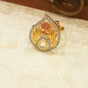Silver Kundan Ring mini