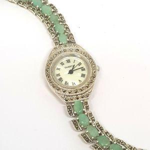 Silver Emerald watch