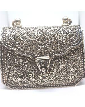 Silver clutch oxidised