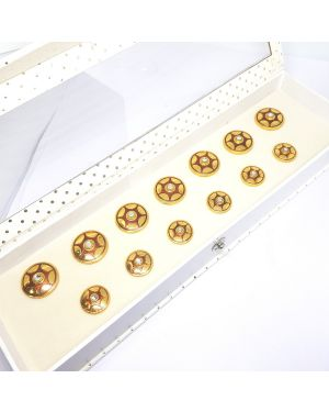 Silver Red Gold Buttons