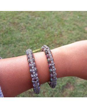 Silver marca multi bangle