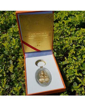 Silver laxmi key chain