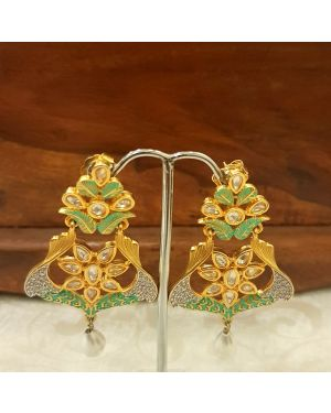 Silver kundan Trendy Earrings