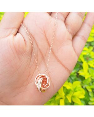 SILVER RING TYPE PENDANT WITH CHAIN