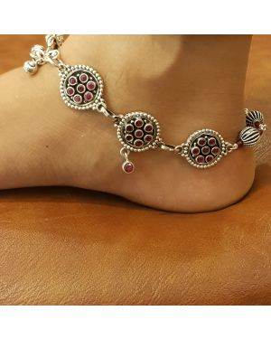 Silver best selling anklet pair