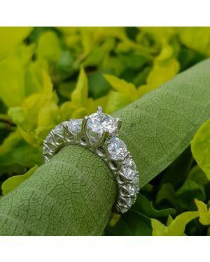 Silver solitaire swarovski ring