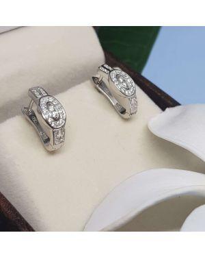 Silver 0 Shape Design Bali Pair
