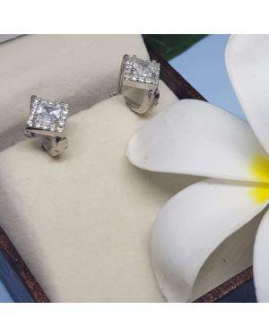 Silver Charming Design Bali Pair