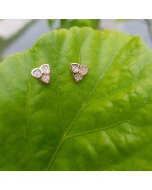 Silver Rose Gold Earrings -27