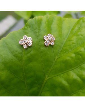 Silver Rose Gold Flower Tops