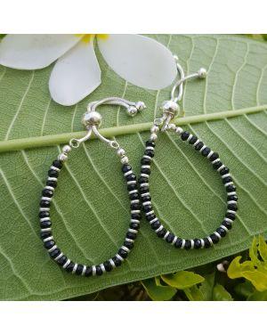 Silver Black Beads Kids Nazariya