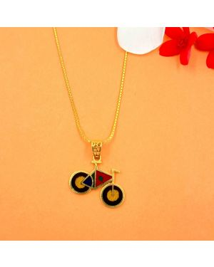 Gold Cycle Kids Pendant