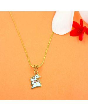 Gold Rabbit Kids Pendant