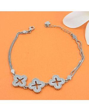 SILVER FLOWER ADJUSTABLE BRACELET