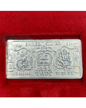 Silver 10 gm Shree Ganesh Laxmi Note