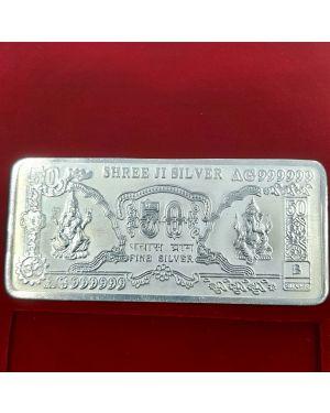 Silver 50 gm Pure 999 Ganesh  Laxmi Note