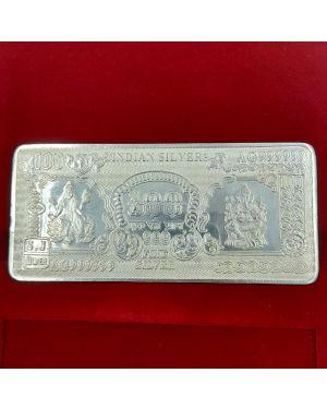Silver 100 gm Shree Ganesh Laxmi Note