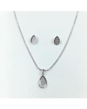 Silver Beautiful Pendant Set