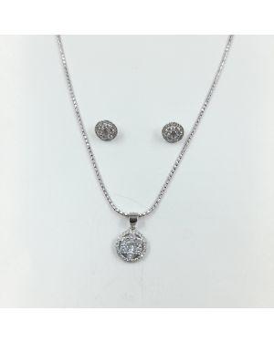 Silver Owel Pendant set
