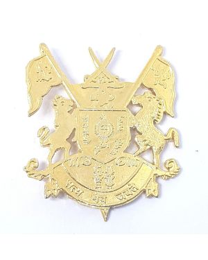 Silver Brooch big cross flag