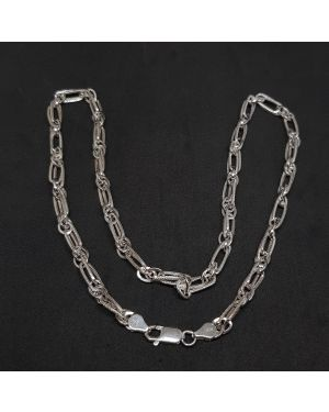 SILVER MULTI KADI HEAVY CHAIN