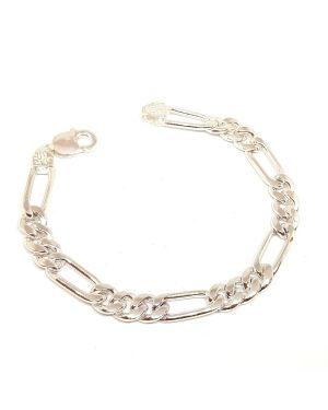 Silver small big link bracelet