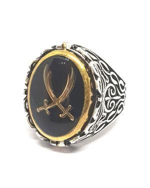 Silver 3way ring
