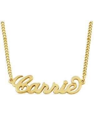 Silver name pendant gold