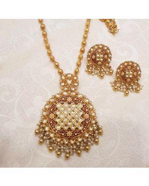 Silver Meena Necklace
