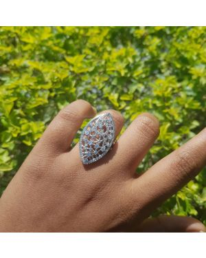 Silver Partywear stone ring